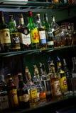 Alcohol bottles Stock Photography