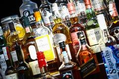Alcohol bottles Stock Photo