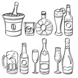 Alcohol Bottles Collection Stock Photo