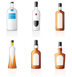 Alcohol Bottles Icons Set Royalty Free Stock Photos
