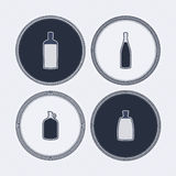Alcohol bottles Stock Image