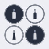 Alcohol bottles Stock Images