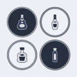 Alcohol bottles Stock Photos
