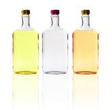 Alcohol Bottles Isolated Royalty Free Stock Photo