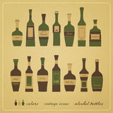 Alcohol bottles Royalty Free Stock Photo