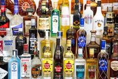 Alcohol bottles Stock Photos