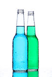 Alcohol bottles on white Stock Image