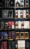 Alcohol boutique in Duty Free Shop Royalty Free Stock Photography