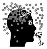 Alcohol and Brain Damage Royalty Free Stock Images