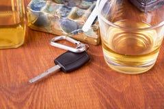 Alcohol, car, keys ,tragedy Royalty Free Stock Photo