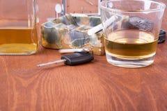 Alcohol, car, keys ,tragedy Stock Photography