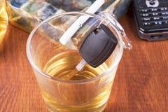 Alcohol, car, keys ,tragedy Royalty Free Stock Image