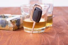 Alcohol, car, keys ,tragedy Stock Photo