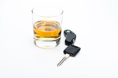 Alcohol and car keys Stock Image
