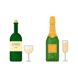 Alcohol champagne drinks beverages cocktail drink bottle lager refreshment container and menu drunk different bottle and Stock Photography