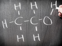 Alcohol chemical formula Stock Photos