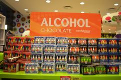 Alcohol Chocolates Stock Photography