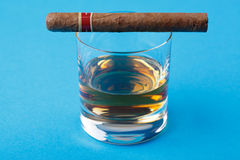 Alcohol and cigar Stock Photos