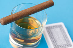 Alcohol and cigar Royalty Free Stock Image