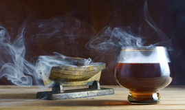 Alcohol and cigar Stock Photo