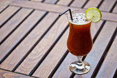 Alcohol cocktail. With coffee liquor Stock Image