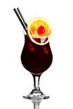 Alcohol cocktail Bacadri Cassis Stock Images