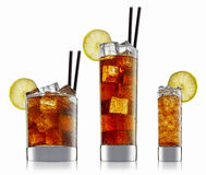 Alcohol cocktail isolated on white background royalty free stock photography