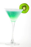 Alcohol cocktail with kiwi in martini glass Royalty Free Stock Photography