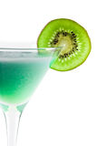 Alcohol cocktail with kiwi in martini glass Royalty Free Stock Image