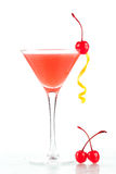 Alcohol cocktail with orange juice and grenadine Royalty Free Stock Photos