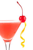 Alcohol cocktail with orange juice and grenadine Royalty Free Stock Image