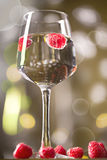 Alcohol cocktail with raspberry Royalty Free Stock Images