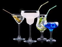 Alcohol cocktail set Royalty Free Stock Images