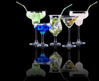 Alcohol cocktail set Royalty Free Stock Photos
