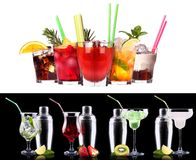 Alcohol cocktail set Royalty Free Stock Photo
