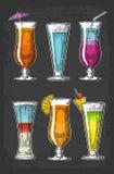 Alcohol cocktail set. Stock Photo