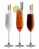 Alcohol cocktail set Royalty Free Stock Photography
