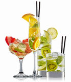 Alcohol cocktail set Stock Image