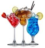 Alcohol cocktail set Stock Photos
