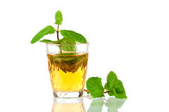 Alcohol cocktail with whiskey and mint Stock Photo
