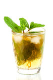 Alcohol cocktail with whiskey and mint Royalty Free Stock Images