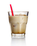 Alcohol cocktail 'white russian' isolated on white stock photos