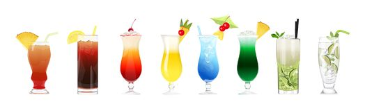 Alcohol cocktails set. Stock Photography