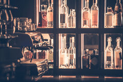 Alcohol and Coffee Bar Royalty Free Stock Image