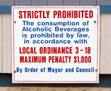 Alcohol Consumption Prohibited Sign Stock Images