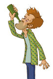 Alcohol de consumición del hombre libre illustration
