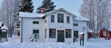 Alcohol de la Navidad en el museo al aire libre Hägnan en Gammelstad Imagenes de archivo