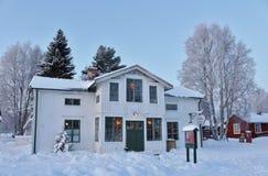Alcohol de la Navidad en el museo al aire libre Hägnan en Gammelstad Fotografía de archivo libre de regalías