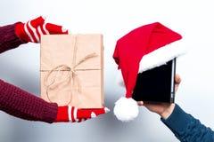 Alcohol de la Navidad y del Año Nuevo Concepto de un día de fiesta y de días Imagen de archivo