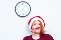 Alcohol de la Navidad y del Año Nuevo Concepto de un día de fiesta y de días Fotos de archivo